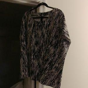 Zebra print blouse
